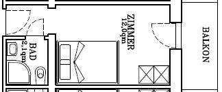 Einzelzimmer-karte